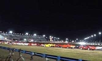 Over 800 Ferraris Lapping Daytona Together Failed to Set a New World Record