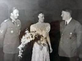 the best day of his life... then hitler had him shot: never before seen photographs show adolf attending wedding of brother-in-law he had executed a year later