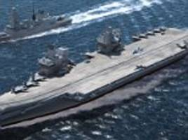 Britain to sail its new flagship aircraft carrier with a squadron of Typhoons through the disputed South China Sea in show of strength aimed at China