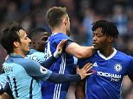 Cesc Fabregas avoids punishment for Fernandinho slap as Manchester City and Chelsea are charged by the FA for failing to control their players