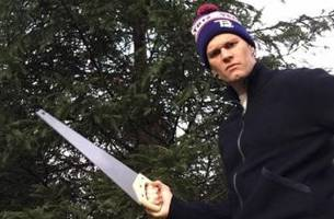 Tom Brady is taking his Christmas tree cutting 'to the next level'