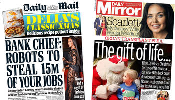 newspaper review: robots 'to steal 15m jobs' and brexit case