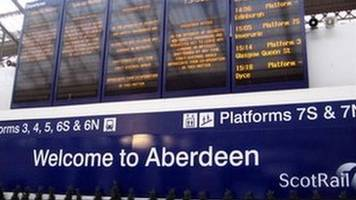 bridge crash causes rail problems between aberdeen and inverness