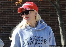 gwen stefani fails to cover her neck hickey during an outing with her kids