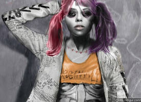 Harley Quinn and The Joker Sport Very Different Tattoos in Early 'Suicide Squad' Concept Art