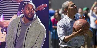 Kendrick Lamar Challenges President Obama to Basketball Game