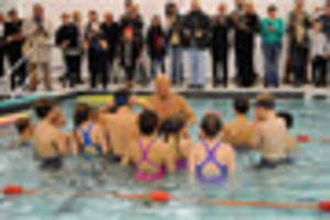 olympic medallist opens dartmouth indoor swimming pool