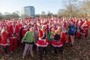 farleigh hospice santa fun run in chelmsford attracts hundreds of...