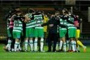 are yeovil town league 2 playoff contenders? thrashing crawley...