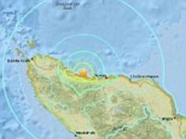 breaking news: earthquake with magnitude 6.8  strikes off indonesia