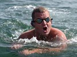 Briton swimming across Atlantic left partially PARALYSED after stung by sea creature