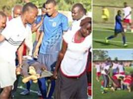 footballer drops dead on pitch shortly after scoring goal in tanzania