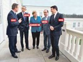 last leader standing - but for how long? seven months on from this photo, angela merkel is the only one of the old order left