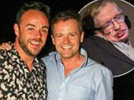 Stephen Hawking emails Ant and Dec following joke saying he found it funny