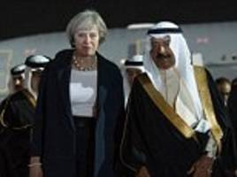 theresa may visits leaders of gulf states in bahrain to improve airport screenings in the region