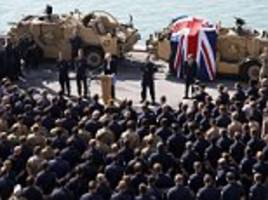 you are an important part of our brexit vision! theresa may praises the role of uk forces as she addresses troops on deployment for first time in bahrain