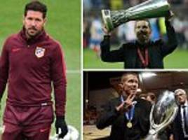 is diego simeone's love affair with atletico madrid coming to an end? the manager's future is uncertain... even as they go for a sixth straight win in the champions league group stage