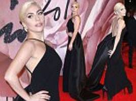 British Fashion Awards 2016: Lady Gaga shows off demure look in black gown