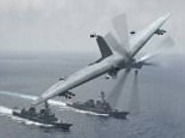 northrop grumman reveals 'tailsitter' drone that can turn ship into aircraft carrier