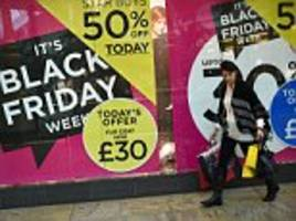 Black Friday boosts high street sales but growth slows as shoppers tire of the 'US style' hype