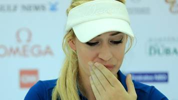 watch: golfer breaks down over cyber-bullying