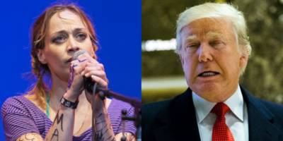 Watch Fiona Apple Sing Her New Christmas Song Trump's Nuts Roasting on an Open Fire