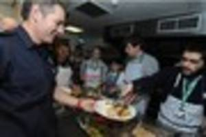 Students cook up a storm making Christmas lunch for firefighters