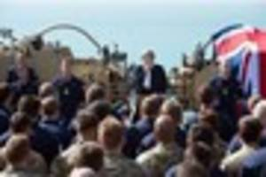 pm's 'vital' message to crew of hms ocean