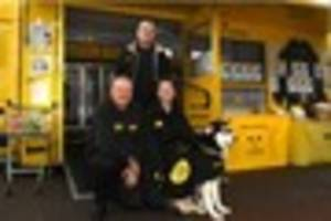 The Dogs Trust's Dogmobile is heading to Barnstaple's Tesco store...