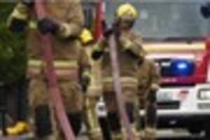Three children taken to hospital after bedroom fire at four-store...