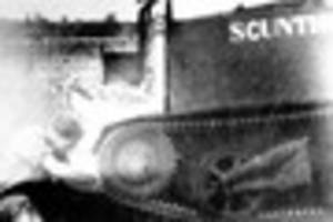 scunthorpe's   name was put on regimental gun  carrier