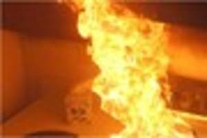 Man rescued and a block of flats evacuated after a fire in...
