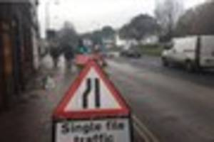 this is why there was traffic chaos in tunbridge wells this...