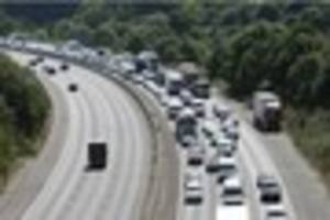 Man dies after collapsing at the wheel on the M23 near Gatwick