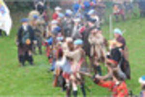 Watch: Battle of the Bonnie Prince re-enacted at Swarkestone...