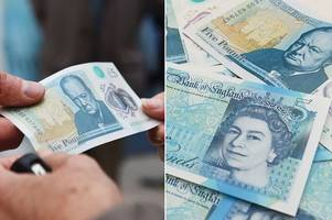 Fake new £5 note warning as scammers target online shoppers ahead of Christmas rush
