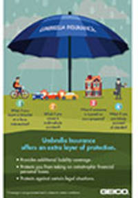 geico says umbrella insurance offers a canopy of extra protection for your financial assets