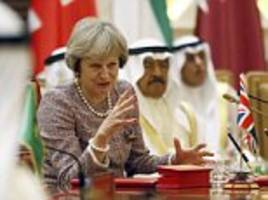 'isis's days as an occupying force are numbered': theresa may's warning to terrorists in historic bahrain speech