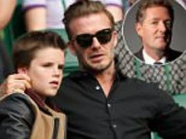piers morgan: cruz beckham is a cute kid but the only thing he really has going for him his famous pimps, er, i mean parents. and they just sold his soul to the fame devil, along with their own