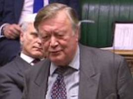 tory grandee ken clarke leads the europhile rebels as he mocks theresa may's 'red, white and blue' brexit plan and labour mps line up to vote no to article 50 in showdown tonight