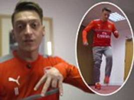 Arsenal news: Mesut Ozil proves class with charity bucket challenge trick-shot