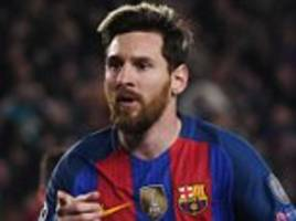 barcelona star lionel messi falls short of matching real madrid rival cristiano ronaldo's champions league group stage goal record