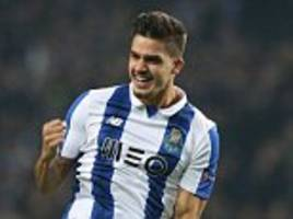 Porto 5-0 Leicester City: Andre Silva scores twice and Jesus Corona, Yacine Brahimi and Diogo Jota also net as Foxes are thrashed in Champions League