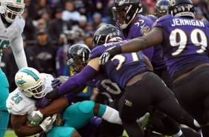 ground and pounded: don't run on the ravens' d