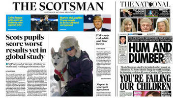 Scotland's papers: Education standards and driving without insurance