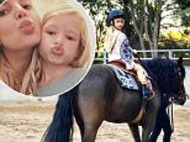 jessica simpson shares shot of daughter maxwell riding a pony on instagram