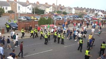 grimsby town-sheffield united disorder: grimsby fans in court
