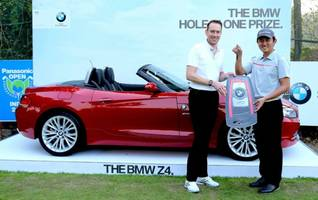 South Korean Golfer Sung Lee scores a Hole-in-One in Panasonic Open India, drives home a BMW Z4.