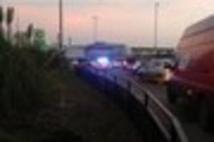 Crash between car and lorry causes traffic chaos in Hedon Road,...