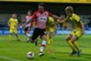 former exeter city striker will hoskins on trial at colchester...